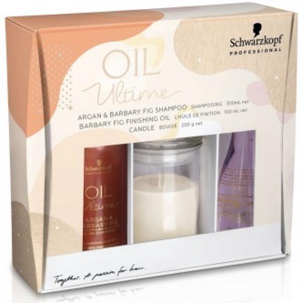 Набор для нормальных и жестких волос Oil Ultime Argan & Barbary Fig