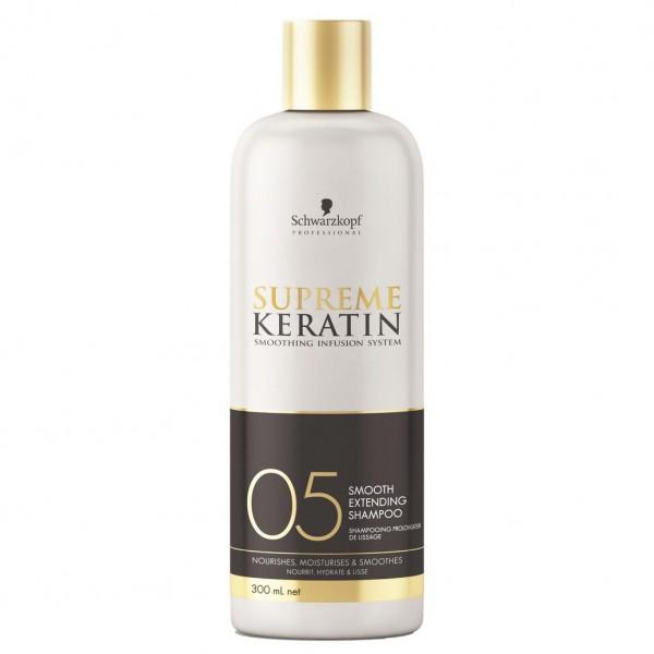 Шампунь с кератином для гладкости и выпрямления волос