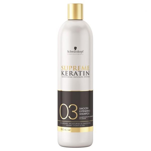 Разглаживающий шампунь для кератинового выпрямления волос