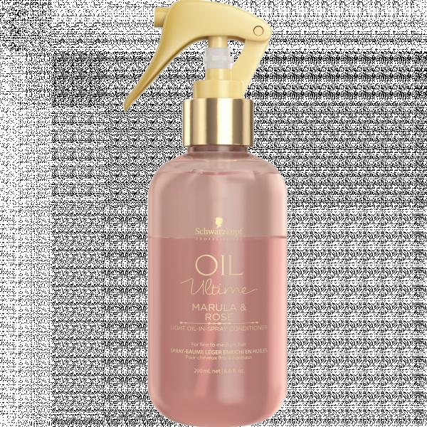 Спрей-кондиціонер з маслом марули і троянди для тонкого і нормального волосся