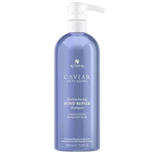 Безсульфатный шампунь для восстановления поврежденных волос с экстрактом чёрной икры