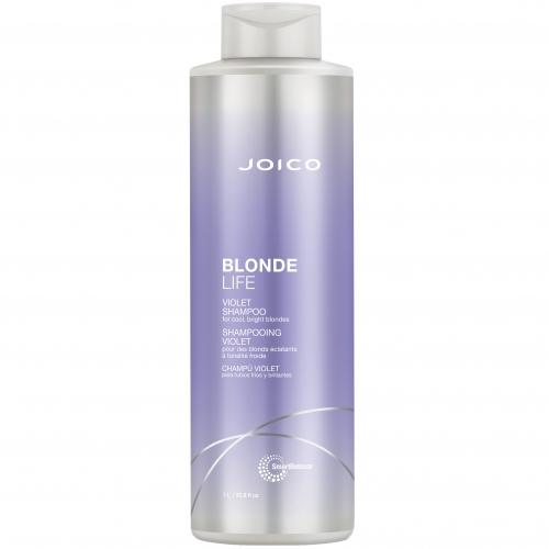 Фиолетовый шампунь для яркости блонда нейтрализующий желтизну