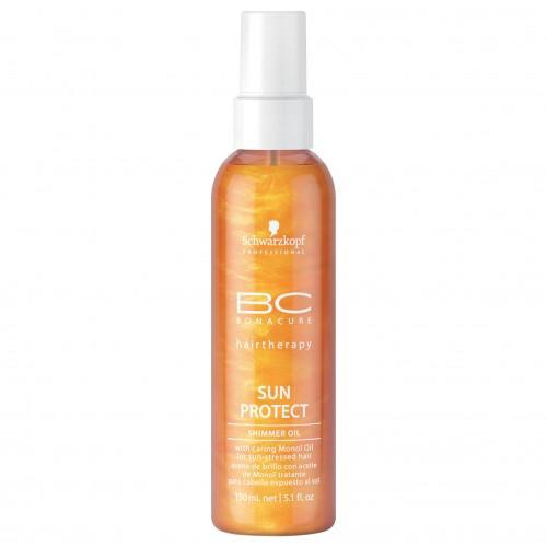 Масло с блеском для защиты волос от солнечного излучения