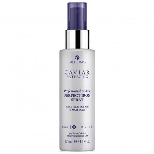 Термозащитный увлажняющий спрей для выпрямления волос с экстрактом черной икры